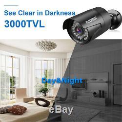FLOUREON CCTV 8CH 1080N DVR Recorder Kits 3000TVL Outdoor Security Camera System