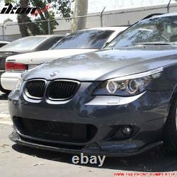 Fits 04-10 BMW E60 E61 5 Series H Style Front Bumper Lip Spoiler PU