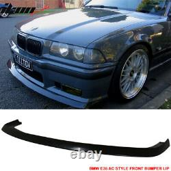 Fits 92-98 BMW E36 M3 Only 2Dr 4Dr AC Style Front Bumper Lip Spoiler PU
