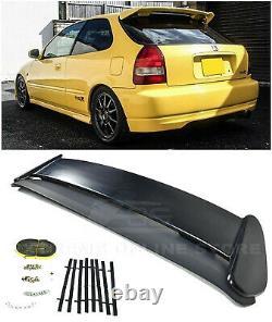 For 96-00 Honda Civic Hatchback JDM Type-R PRIMER BLACK Rear Roof Wing Spoiler