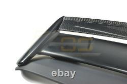 For 96-00 Honda Civic Hatchback SEEKER V2 CARBON FIBER Rear Roof Wing Spoiler