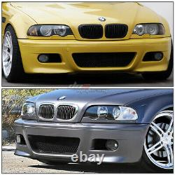 For 99-06 E46 3series Non-m M3 Style Abs Front Bumper Cover Body Kit+fog Light