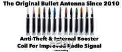Ford F150 F250 50 Cal Caliber Bullet Aluminum Short Antenna Bronze Kit