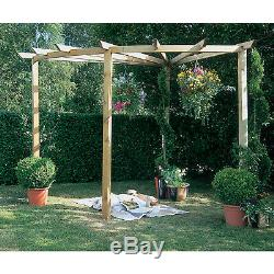 Forest Radial Pergola Kit Wooden Garden Decor Outdoor Plant Climbing Structure