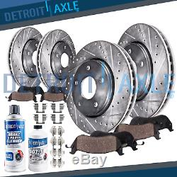 Front & Rear Brake Pads and Drilled Rotors 2006 2007 2008 2017 Dodge Ram 1500