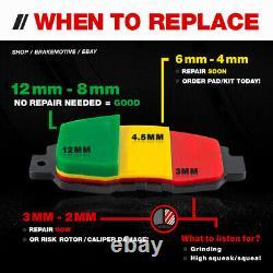 Front+Rear Brake Rotors Brake Pads For Mazda 6 Milan Brakes Rotor Brake Pad Kit