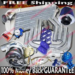 GT28 Universal Turbo Kits 2.5 Intercooler +Piping+BOV+Fuel Regulator+Air Filter