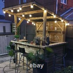 Garden Bar Outdoor Wooden Bar, Fully Treated, Outside Home Bar DIY Bar Kit