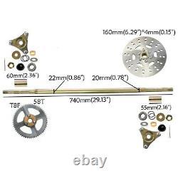 Go Kart Rear Axle Assembly Kit Complete Wheel Hub for Mini Kids ATV QUAD Buggy