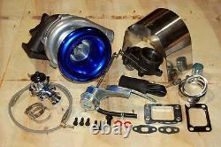 Internal Turbocharger Stage 2 Kit T3T4 Turbo Wastegate BOV Oil Line Heatshield