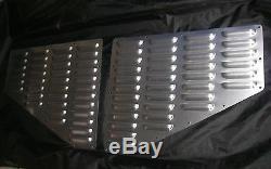 Jeep XJ Cherokee Louver Aluminum Hood BoltOn Vent Panels Kit RodLouvers Cooling