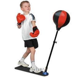 Junior Boxing Set Kids Punch Bag Ball & Mitts Gloves Kit Children Free Standing