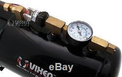 Loud 4/quad Trumpet Train Sound Air Horn Full System Kit 1 Gal Tank/compressor