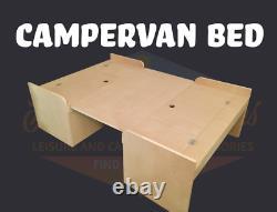 MDF Campervan Bench Seat Bed with Table leg kit for Vivaro, Traffic & Primastar