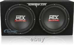 MTX Audio 12 Dual Terminator Car Audio Subwoofer Package+Amplifier+Amp Kit