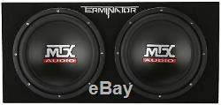 MTX Terminator TNP212D2 1200W Dual 12 Sub AND Box AND Amplifier AND Amp Kit