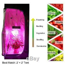 Mars 300W Led Grow Light Veg Flower Plant + 70×70×160cm Indoor Grow Tent Kit