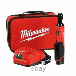 Milwaukee 2457-21 M12 3/8 Ratchet Cordless Tool Kit With 1.5 Battery+Charger NEW
