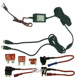 Mini USB + Micro USB Dash Cam Hardwire Charger Kit with ACU, ACS & ACN Plugs Fuse