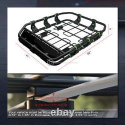 Modular HD Steel Roof Rack Basket Travel Storage Carrier withFairing Matte Blk G26