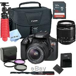 New Canon Rebel T6 SLR Camera Premium Kit with 18-55 Lens, bag, SD Card