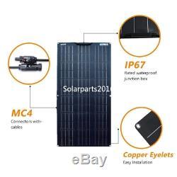 New Waterproof 200W Flexible Solar Panel Cell Module Kit for 12V/24V RV/Car/Boat