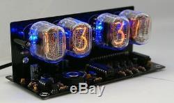 Nixie Tube clock KIT with IN-12 LED Alarm Black