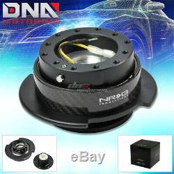 Nrg Gen 2.5 Steering Wheel Quick Release Hub Kit/adapter Black Body Carbon Ring