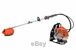 Petrol Backpack Strimmer Brushcutter Chainsaw Hedgetrimmer Garden 5in1 Kit 52cc