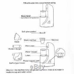 Portable Ultrasonic Nebulizer Handheld Nebuliser Respirator Humidifier adult kit