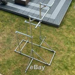 Pull Up & Dip Bars Kit Indoor / Outdoor Key Clamp Gym Frame Galvanised