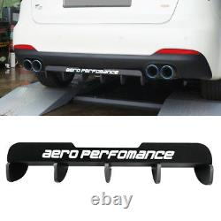 Rear Bumper Diffuser Lower Lid Cover Aero Parts Diy Kit for Universal Vehicle