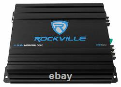 Rockville RV12.1C 600w 12 Loaded Car Subwoofer Enclosure+Mono Amplifier+Amp Kit