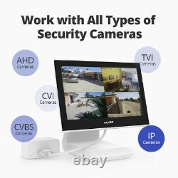 SANNCE 10.1LCD Monitor 4CH 5IN1 DVR 1080p Outdoor CCTV Camera Security Kit IP66