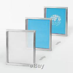 SIEBDRUCK Starterset Sieb, Rakel, Emulsion, Farbe, Entschichter DIY PRINT-KIT