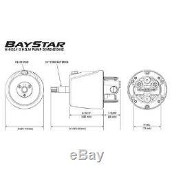 SeaStar HK4200A-3 BayStar Hydraulic Outboard Steering Kit Teleflex Marine System