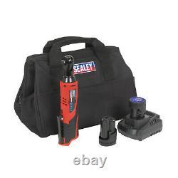 Sealey CP1202KIT Ratchet Wrench Kit 3/8 Inch Sq Drive 12V Li-ion 2 Batteries