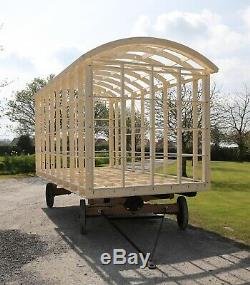 Shepherds Hut Glamping Pod Frame DIY Self Build Kit 5.4m x 2.2m