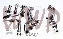 Stainless Long Tube Performance Exhaust Header & Y Pipe Kit 07-13 Chevy/GMC 1500
