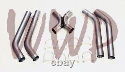 Stainless Steel SS409 Universal 3 Crossover X-Pipe Exhaust System Kit 3.00 Dia