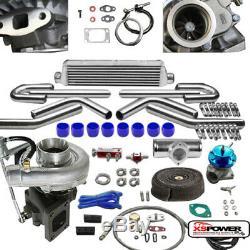 T04e 8pc T3/t4 Universal Turbo Kit V-band Turbocharger Wastegate Intercooler