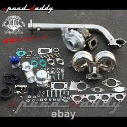 T3/t04e B-series Eg Db DC Turbo Charger+racing Ram Horn Manifold+downpipe Kit