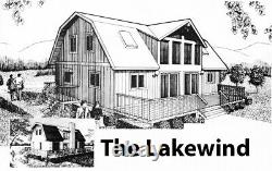 The Lakewind Barndomium Customizable Shell Kit Home, delivered ready to build