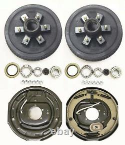 Trailer 6 on 5.5 Hub Drum Kits with 12x2 Electric Brakes for 5200-6000 lbs axle