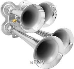 Train Horn Kit for Truck/Car/Semi Loud System /3G Air Tank /200psi /4 Trumpets