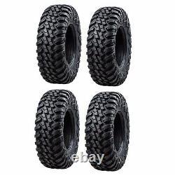 Tusk Terrabite Radial ATV UTV Tire Kit Set Of Four 4 Tires 30x10-14
