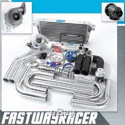 Universal GT35 T4.68AR Turbo Kit Turbo Starter Kit Stage 3 Turbo Kit 550 HP 3'