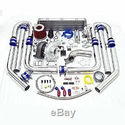 Universal Honda Civic Integra T3 TO4E 15pc Turbo Kit + FMIC BOOST ACCORD F22 F23