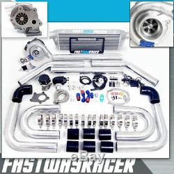 Universal T3/T4 T04E Turbo Charger Kit + Turbo Bar and Plate Intercooler 2.5