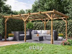 Utopia Wooden Pergola Garden Kit Plants Frame W4m x D3m (13' 1 x 9' 10)